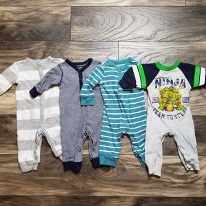 Baby boy 0-3 month one peice outfits